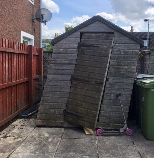 in which i shed my shed wee scoops
